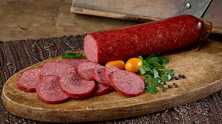 Pork Beef Salami Four 12 Ounce Chubs New Braunfels Smokehouse